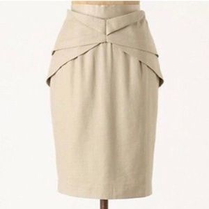 Girls From Savoy Linen Origami Pencil Skirt 14